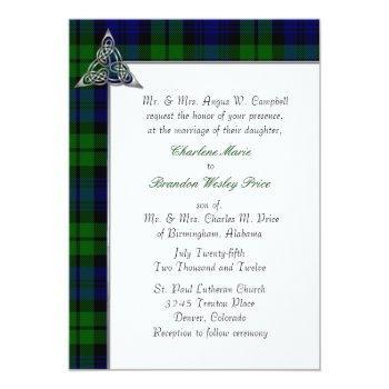 black watch tartan plaid wedding invitation