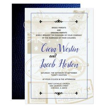 blue australia passport invitation