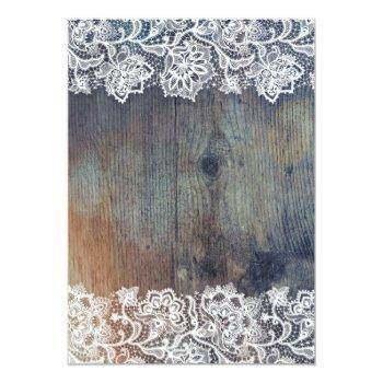 Small Blue Purple And Plum Vintage Floral Lace Wedding Invitation Back View