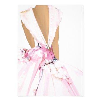 blush bride invitation