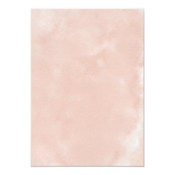 Small Blush Perfection: Watercolor Floral Wedding Invitation Back View