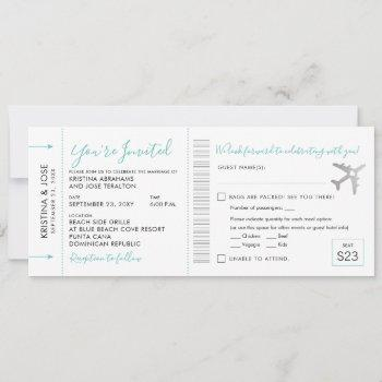 boarding pass plane ticket all-in-one invitation