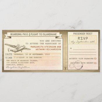 boarding pass tickets -vintage wedding invitations