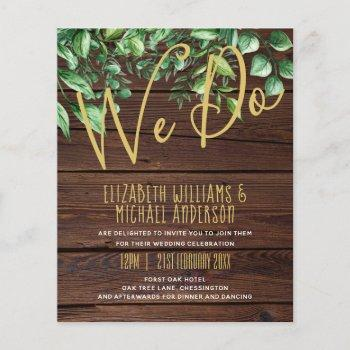 botanical greenery leafy wedding invitation budget