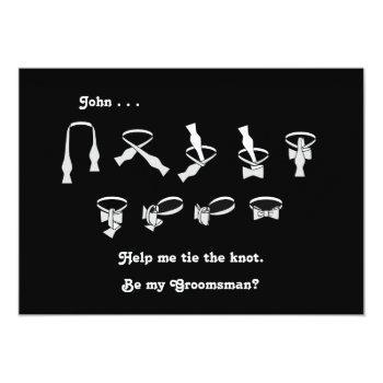 bowtie groomsman request invitation