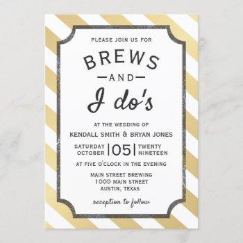 brews and i do's brewery theme wedding invitation