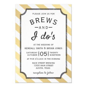 brews and i do's brewery theme wedding invitation