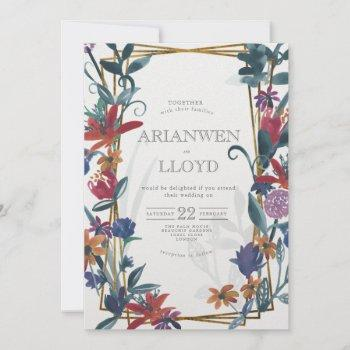 bright country bouquet summer invitation