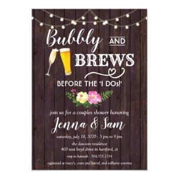 bubbly and brews invitation, bubbles and brews invitation