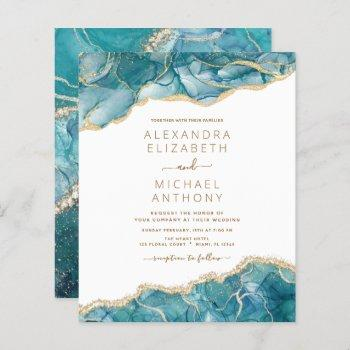 budget agate turquoise teal gold wedding