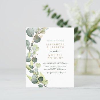 budget eucalyptus greenery wedding invitations