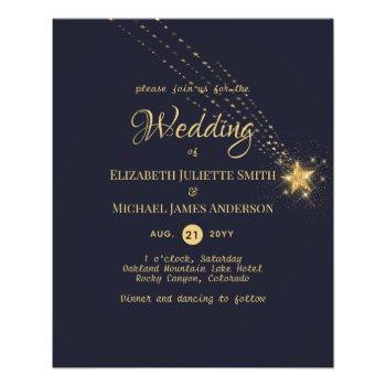 budget flyer paper starry nights wedding