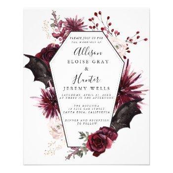 budget halloween wedding invitation  flyer