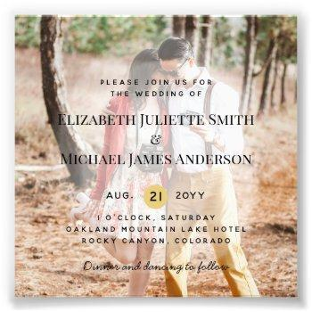 budget photo overlay wedding invite modern