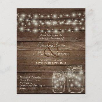 budget rustic lights mason jars cheapest wedding