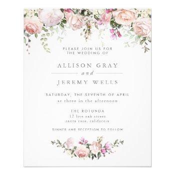 budget spring floral wedding invitation flyer