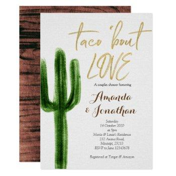 cactus couples shower invitation succulent