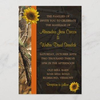 camo & sunflowers invitation