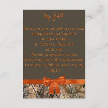 camo wedding invitation