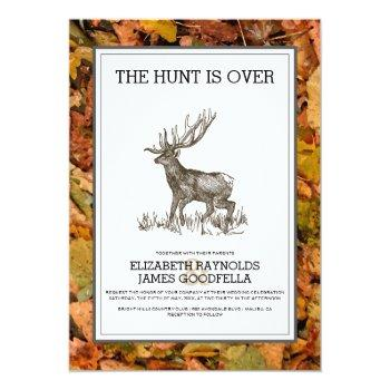 camouflage the hunt is over wedding invitations