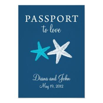 Small Cape May New Jersey Passport Wedding Invitation Front View
