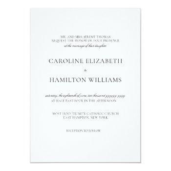 caroline simple black calligraphy classic wedding invitation