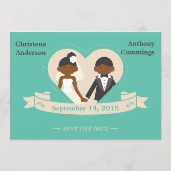 cartoon couple save the date announcement (daa)