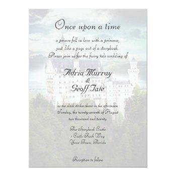 castle theme wedding invitation