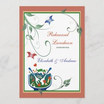 casual lunch - rehearsal luncheon invitation