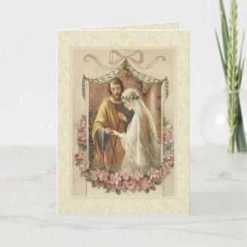 catholic traditional bridal wedding invitation