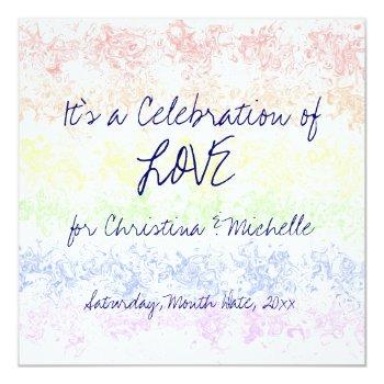 celebration of love invitation