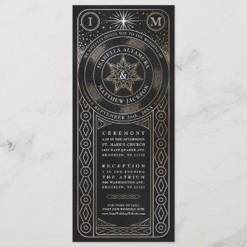 celestial union wedding invitiations (tall) invitation