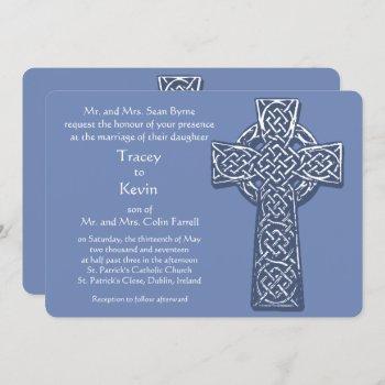 celtic cross - blue invitation