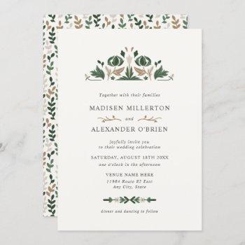 celtic folk art wedding invitation