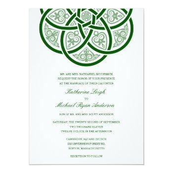 celtic knot wedding invitations