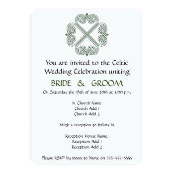celtic wedding celebration invitation
