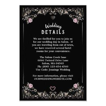 cemetery love matching wedding details 3.5x5 invitation