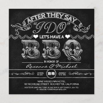 chalkboard bbq stylish modern wedding invitation