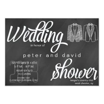 chalkboard gay wedding shower invitation