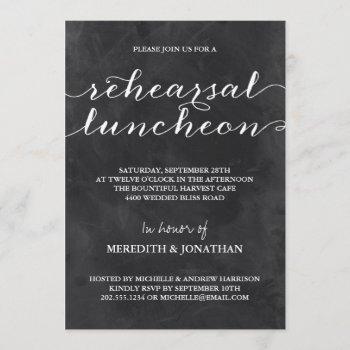 chalkboard rehearsal luncheon invitation