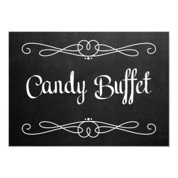 "chalkboard style ""candy buffet"" wedding sign invitation"