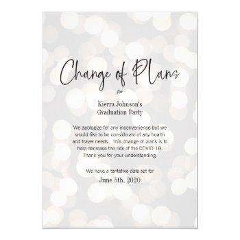 change of date business or personal event covid 19 invitation