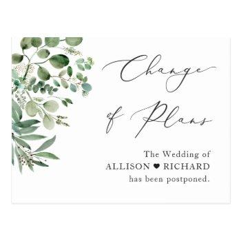 change of plans script simple elegant eucalyptus postcard