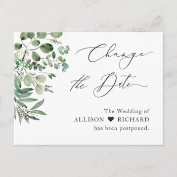 change the date script simple elegant eucalyptus postcard