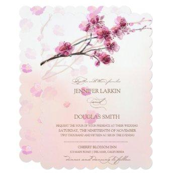cherry blossom/sakura wedding invitations