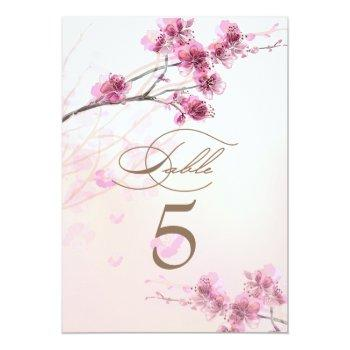 cherry blossom/sakura wedding table cards