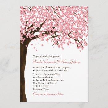 cherry blossoms / sakura watercolor wedding invitation