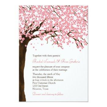 cherry blossoms / sakura watercolor wedding invitation