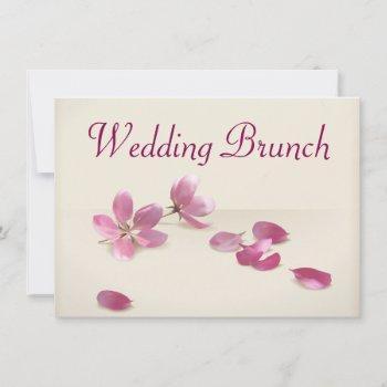 cherry blossoms wedding brunch invitation