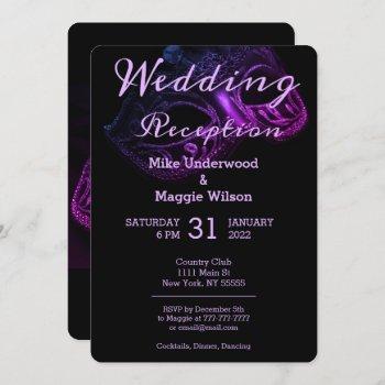 chic evening wedding party invitation